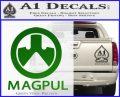 Magpul Firearms Decal Sticker Green Vinyl Logo 120x97