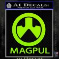Magpul Firearms Decal Sticker Lime Green Vinyl 120x120