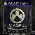 Magpul Firearms Decal Sticker Metallic Silver Emblem 120x120