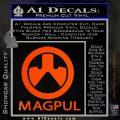 Magpul Firearms Decal Sticker Orange Emblem 120x120