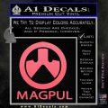 Magpul Firearms Decal Sticker Pink Emblem 120x120