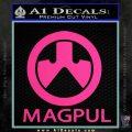 Magpul Firearms Decal Sticker Pink Hot Vinyl 120x120