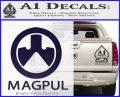 Magpul Firearms Decal Sticker PurpleEmblem Logo 120x97