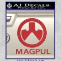 Magpul Firearms Decal Sticker Red 120x120