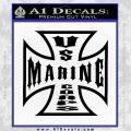 Marine Iron Cross Decal Sticker Black Vinyl 120x120