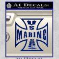 Marine Iron Cross Decal Sticker Blue Vinyl 120x120