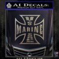 Marine Iron Cross Decal Sticker Carbon FIber Chrome Vinyl 120x120