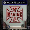 Marine Iron Cross Decal Sticker DRD Vinyl 120x120