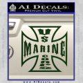 Marine Iron Cross Decal Sticker Dark Green Vinyl 120x120