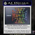 Marine Iron Cross Decal Sticker Glitter Sparkle 120x120
