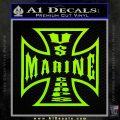 Marine Iron Cross Decal Sticker Lime Green Vinyl 120x120