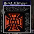 Marine Iron Cross Decal Sticker Orange Emblem 120x120