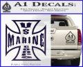 Marine Iron Cross Decal Sticker PurpleEmblem Logo 120x97