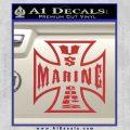 Marine Iron Cross Decal Sticker Red 120x120