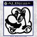 Mario Face Decal Sticker Black Vinyl 120x120