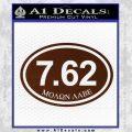 Molon Labe Oval 7.62 Decal Sticker BROWN Vinyl 120x120