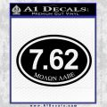 Molon Labe Oval 7.62 Decal Sticker Black Vinyl 120x120