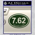 Molon Labe Oval 7.62 Decal Sticker Dark Green Vinyl 120x120