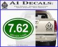 Molon Labe Oval 7.62 Decal Sticker Green Vinyl Logo 120x97