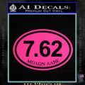 Molon Labe Oval 7.62 Decal Sticker Pink Hot Vinyl 120x120