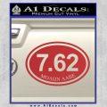 Molon Labe Oval 7.62 Decal Sticker Red 120x120