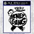 Money Gang Decal Sticker Black Vinyl 120x120