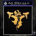 Monopoly Man Stickup Uzis Decal Sticker Gold Vinyl 120x120