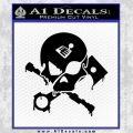 Motorsports Pirate D1 Decal Sticker Black Vinyl 120x120