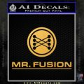 Mr Fusion Back To The Future Decal Sticker Gold Vinyl 120x120