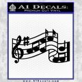 Musical Notes And Bar Decal Sticker Black Vinyl 120x120