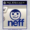 Neff Decal Sticker Full Blue Vinyl 120x120