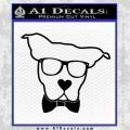 Nerd Dog geek Decal Sticker Black Vinyl 120x120
