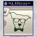 Nerd Dog geek Decal Sticker Dark Green Vinyl 120x120