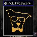 Nerd Dog geek Decal Sticker Gold Vinyl 120x120