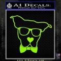 Nerd Dog geek Decal Sticker Lime Green Vinyl 120x120