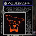 Nerd Dog geek Decal Sticker Orange Emblem 120x120