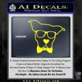 Nerd Dog geek Decal Sticker Yellow Laptop 120x120