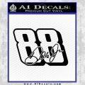 New Dale Earnheardt Jr 88 Decal Sticker Black Vinyl Black 120x120