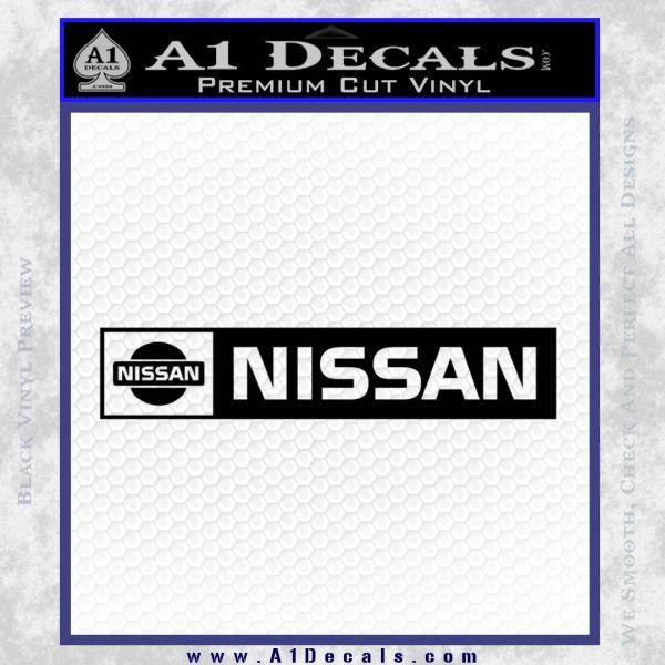 Nissan Decal Sticker Wide Black Vinyl