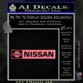 Nissan Decal Sticker Wide Pink Emblem 120x120