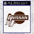 Nissan Sexy Decal Sticker D1 BROWN Vinyl 120x120