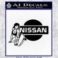 Nissan Sexy Decal Sticker D1 Black Vinyl 120x120