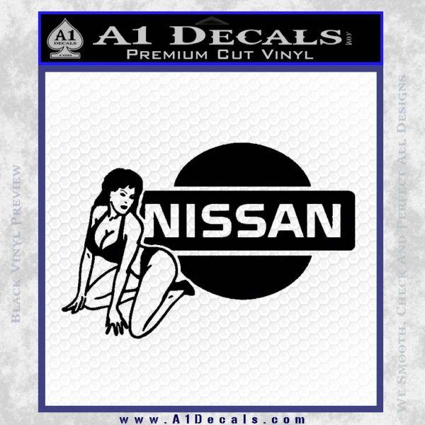 Nissan Sexy Decal Sticker D1 Black Vinyl