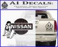 Nissan Sexy Decal Sticker D1 Carbon FIber Black Vinyl 120x97