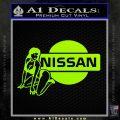 Nissan Sexy Decal Sticker D1 Lime Green Vinyl 120x120