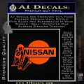 Nissan Sexy Decal Sticker D1 Orange Emblem 120x120