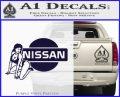 Nissan Sexy Decal Sticker D1 PurpleEmblem Logo 120x97