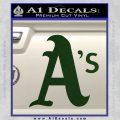 Oakland As MLB Baseball Decal Sticker Dark Green Vinyl 120x120