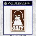 Obey Linux B Decal Sticker BROWN Vinyl 120x120