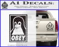 Obey Linux B Decal Sticker Carbon FIber Black Vinyl 120x97